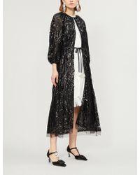 Huishan Zhang - Luna Sequin-embellished Tulle Cape - Lyst