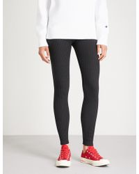Champion - High-rise Knitted Leggings - Lyst