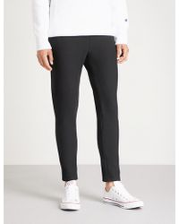 Champion - Logo-embroidered Cotton-jersey Jogging Bottoms - Lyst
