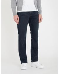 PAIGE - Normandie Slim-fit Faded Straight-leg Jeans - Lyst