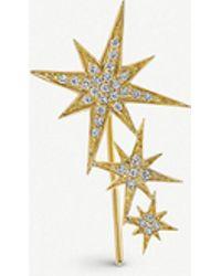 The Alkemistry - Sydney Evan 3 Star 14ct Yellow-gold And Diamond Earring - Lyst