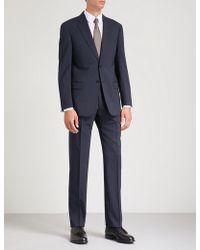Emporio Armani - Tonal Pinstripe Stretch-wool Suit - Lyst