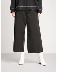 MM6 by Maison Martin Margiela - Regular-fit Wide-leg High-rise Jeans - Lyst