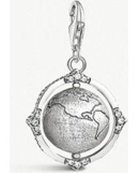 Thomas Sabo - Rotatable Globe Sterling Silver Charm - Lyst