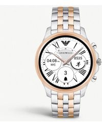 Emporio Armani - Art5001 Alberto Stainless Steel Touchscreen Smartwatch - Lyst
