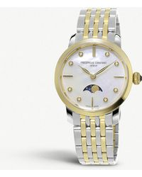 Frederique Constant - Fc-206mpwd1s3b Slimline Moonphase Manufacture Stainless Steel Watch - Lyst