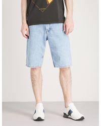 DIESEL - Faded Denim Shorts - Lyst