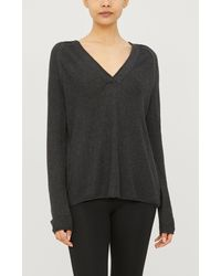 The White Company Textured Knit Hoody - Multicolour