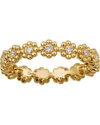 Cartier - Cactus De 18ct Gold And Diamond Wedding Ring - Lyst