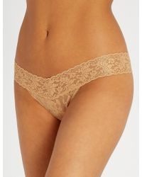 c520dbe291 Hanky Panky Stardust Metallic Stretch-lace Soft-cup Triangle ...