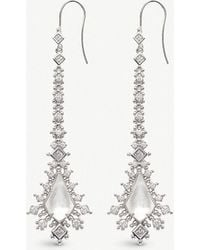 Kendra Scott - Reimer Rhodium-plated And Ivory-of-pearl Earrings - Lyst