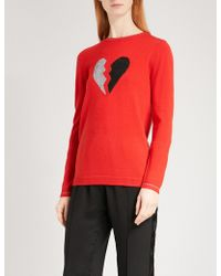 Bella Freud - Heart Breaker Wool-blend Jumper - Lyst
