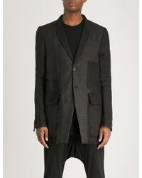 Rick Owens - Semi-sheer Single-breasted Silk Jacket - Lyst