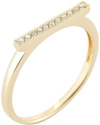 The Alkemistry - Diamond Bar 14ct Yellow-gold Ring - Lyst