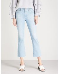 AG Jeans - The Jodi High-rise Flared Cropped Jeans - Lyst