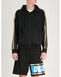 DSquared² - Sequin-striped Jersey Hoody - Lyst