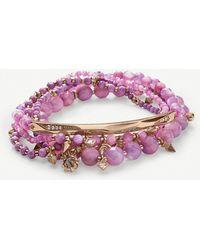 Kendra Scott - Supak 14ct Rose Gold-plated Beaded Bracelet - Lyst