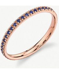 The Alkemistry - Sydney Evan 14ct Rose Gold And Sapphire Eternity Ring - Lyst