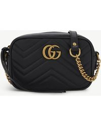 Gucci - GG Marmont Mini Quilted Leather Cross-Body Bag - Lyst