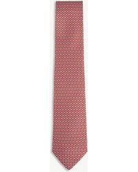 Ferragamo - Chain-link Gianco Silk Tie - Lyst