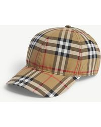 Burberry - Vintage Check Cotton Baseball Cap - Lyst fcbb45ae716