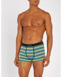 Paul Smith - Striped Stretch-cotton Slim-fit Trunks - Lyst