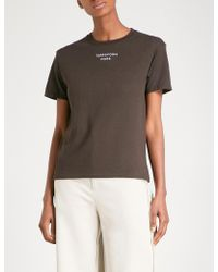 Collina Strada - Terraform Mars Cotton-jersey T-shirt - Lyst