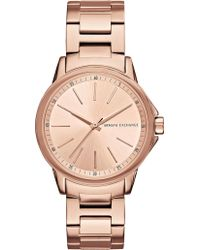 Armani Exchange - Ax4347 Rose-gold Plated Stainless Steel Watch - Lyst