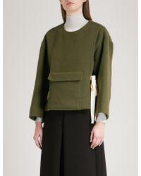 Mo&co. - Pocket-detail Wool-blend Coat - Lyst