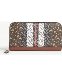 Burberry - Elmore Tb Monogram E-canvas Wallet - Lyst