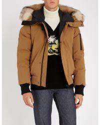 KENZO - Faux Fur-trimmed Woven Padded Jacket - Lyst