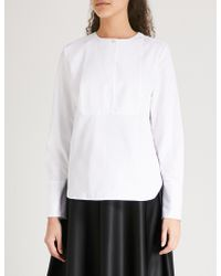 Kitri - Margot Cotton-poplin Tuxedo Shirt - Lyst