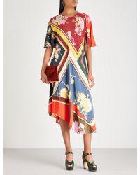 Preen Line - Yesina Crepe Midi Dress - Lyst