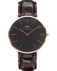 Daniel Wellington - Classic Reading Rose Gold Watch - Lyst