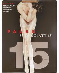 Falke - Siedenglatt 15 Denier Stockings - Lyst