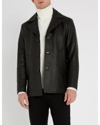 Sandro - Donnie Leather Coat - Lyst