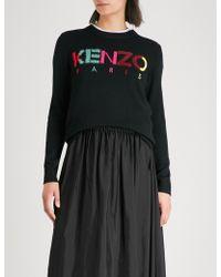 KENZO - Logo-intarsia Wool-blend Jumper - Lyst