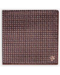 Canali - Weave Pattern Silk Pocket Square - Lyst