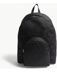 Alexander McQueen - Black Woven Jacquard Skull Backpack - Lyst