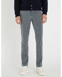 Slowear - Slim-fit Tapered Wool-flannel Trousers - Lyst