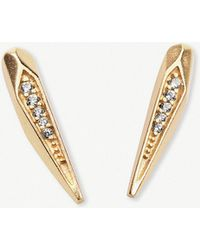 Kendra Scott - Montgomery 14ct Gold-plated And Cubic Zirconia Earrings - Lyst