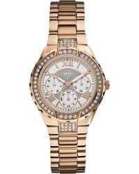 Guess - W0111l3 Stainless Steel Chronograph Watch - Lyst