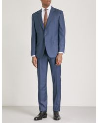 Gieves & Hawkes | Micro-textured Regular-fit Wool Suit | Lyst