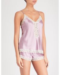 Nk Imode - Urban Silk-satin And Lace Camisole - Lyst