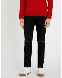 Balmain - Destroy Slim-fit Straight Jeans - Lyst