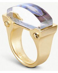 Kendra Scott - Jeanne 14ct Gold-plated Abalone Shell Cocktail Ring - Lyst