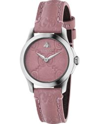 Gucci - Ya126578 G-timeless Collection Stainless Steel And Leather Watch - Lyst