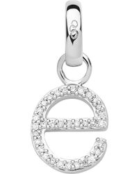 Links of London - Alphabet E Sterling Silver And Diamond Charm - Lyst