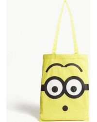 Chocoolate - Yellow Minion Face Canvas Tote Bag - Lyst