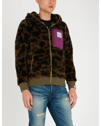 A Bathing Ape - Camouflage-print Fleece Hoody - Lyst